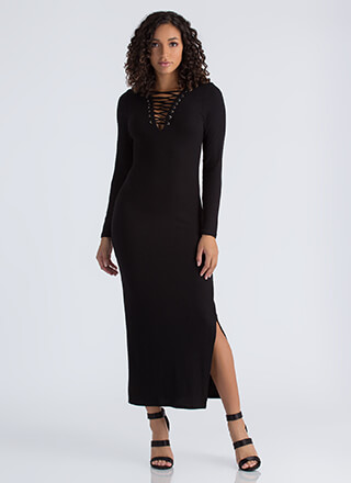 Laced With Love Strappy Maxi Dress