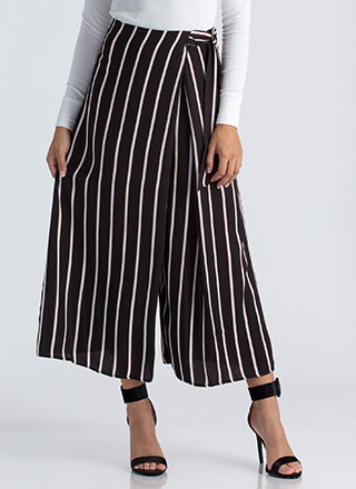 Skirt The Issue Striped Palazzo Pants