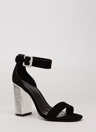 Studs For Hire Chunky Faux Nubuck Heels