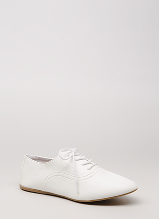 Jazz Feet Lace-Up Oxford Flats