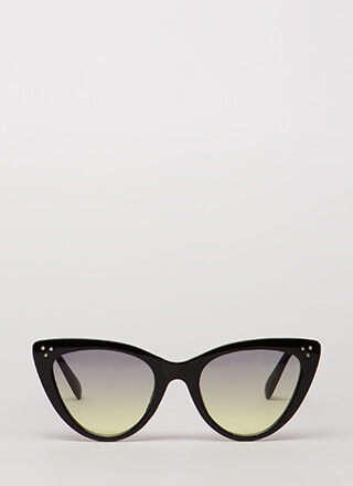 Dot Dot Dot Cat Eye Sunglasses