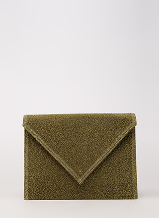 Go For Glitter Sparkly Envelope Clutch