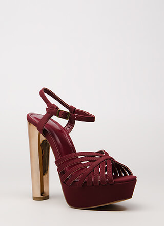 Oh-So-Strappy Caged Chunky Heels