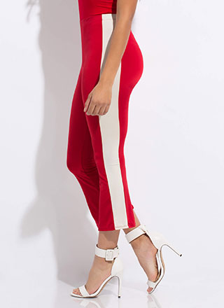Side Kick Cropped Bell-Bottom Pants