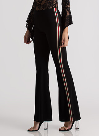 Girl On The Side Flared Striped Pants