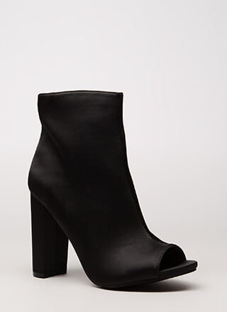 So Essential Chunky Matte Satin Booties