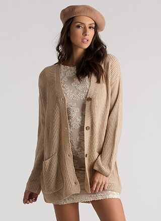 Warming Up Button-Up Knit Cardigan