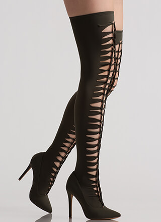 In The Loops Stretchy Thigh-High Boots