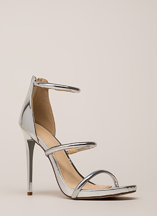 The Right Angle Skinny Strap Heels