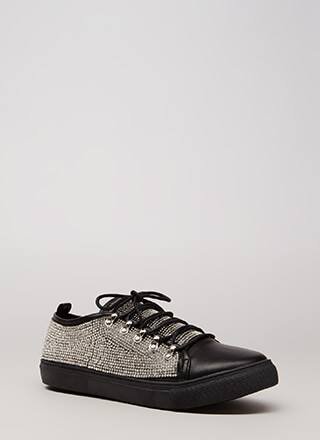 So Much Sparkle Rhinestone Sneakers