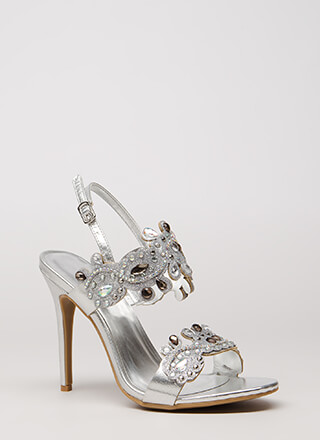 Crowning Achievement Jeweled Heels