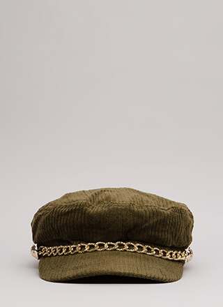 Chain Reaction Corduroy Cabbie Cap