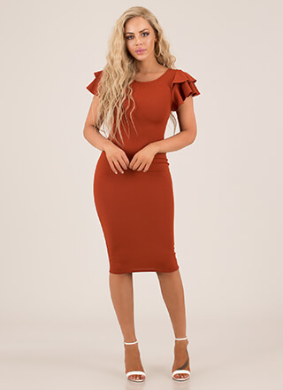 Party Favor Ruffle Sleeve Dress