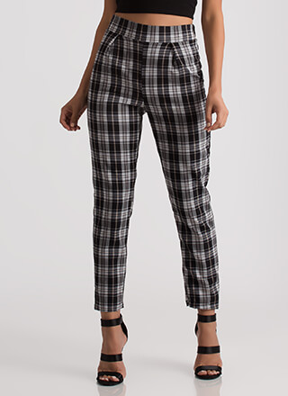 You're A Plaid Influence Tapered Pants
