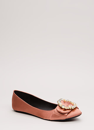 Holiday Feels Jewel Wreath Satin Flats