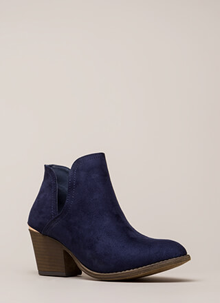 Building Block Heel Notched Booties
