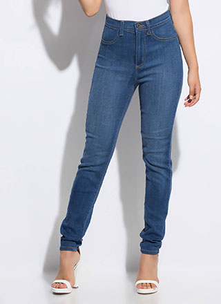Feeling Comfortable High-Waisted Jeans