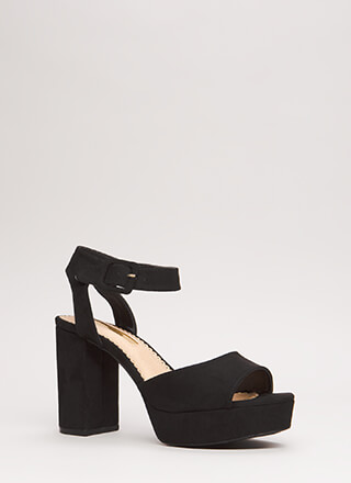 Extra Chunky Faux Suede Platforms