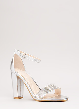 Show Me The Sparkle Chunky Heels