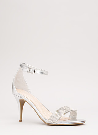 Show Me The Sparkle Metallic Heels