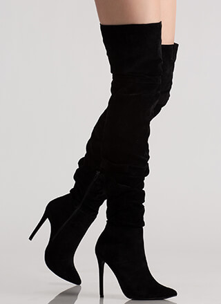 In The Middle Slouchy Thigh-High Boots