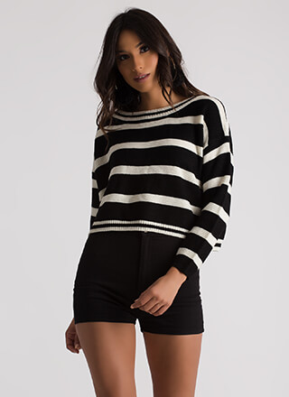 Line Star Striped Knit Sweater