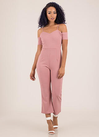World Traveler Cold-Shoulder Jumpsuit