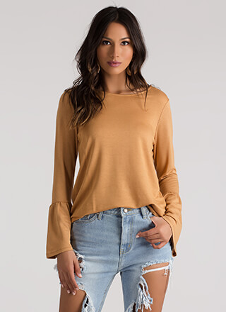 A Certain Flare Bell Sleeve Top