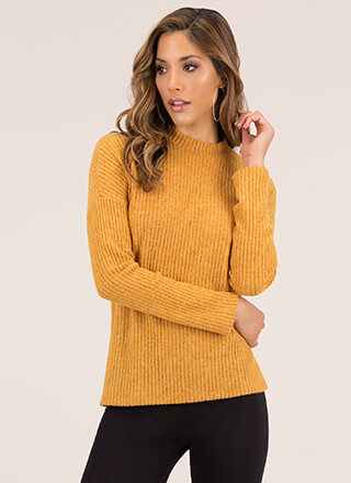Big Softie Fuzzy Rib Knit Sweater