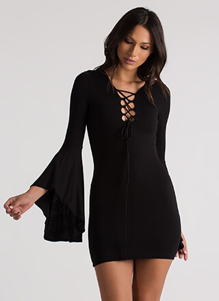 Groovy Baby Lace-Up Bell Sleeves