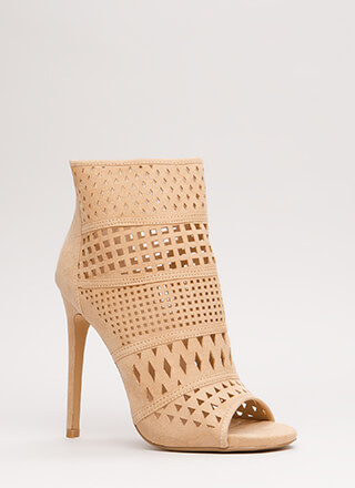 Cut-Out For This Peep-Toe Booties