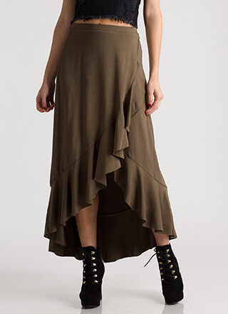 The Way You Move Ruffled Maxi Skirt