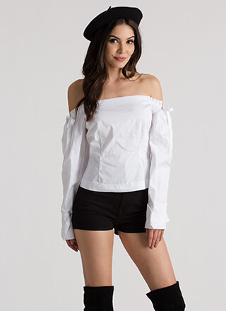 Romeo Romeo Tied Off-Shoulder Blouse