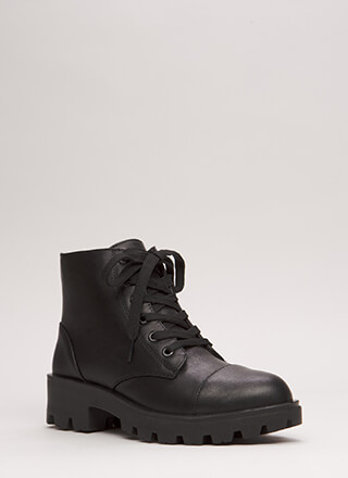 Lug For Life Short Combat Boots