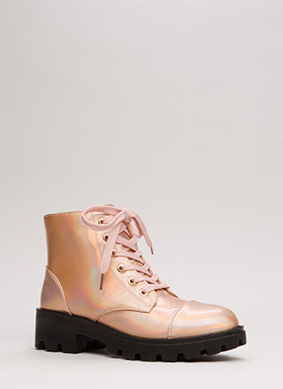 Lug For Life Iridescent Combat Boots