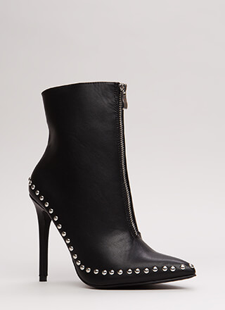 Stunning Studded Pointy Stiletto Booties