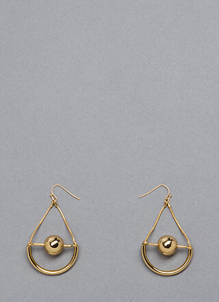 Drop The Ball Cut-Out Earrings