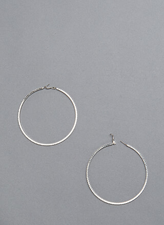Round It Out Scalloped Hoop Earrings