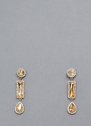 The Trimmings Dangling Jeweled Earrings