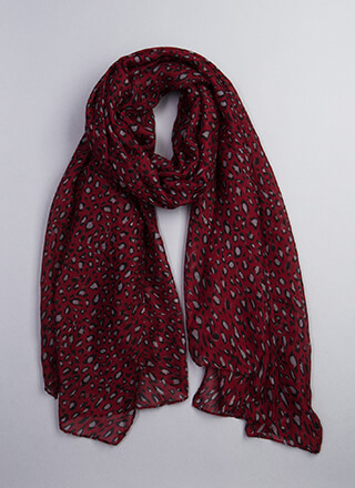 Out In The Wild Leopard Print Scarf