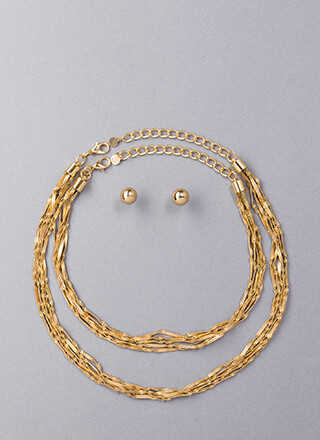 With A Twist Rope Chain Necklace Set