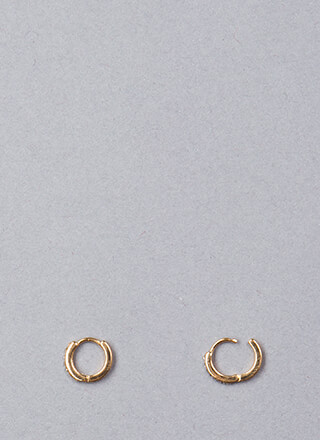 Small Compromise Jeweled Hoop Earrings