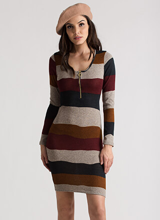Making Waves Striped Knit Dress