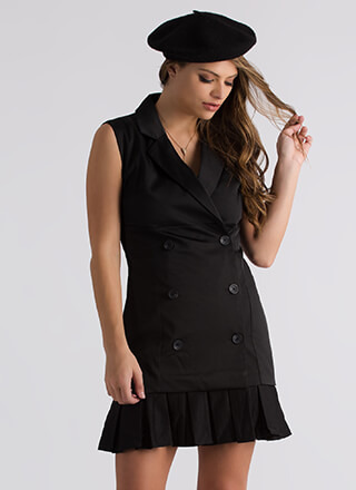 It Suits You Pleated Blazer Dress