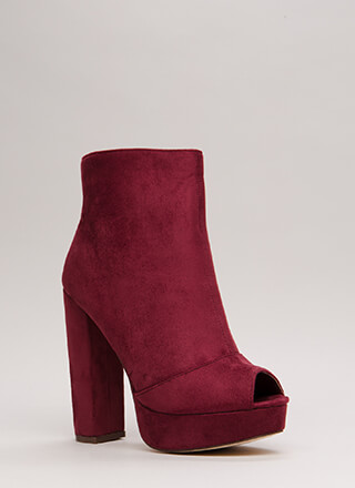 Make A Peep-Toe Chunky Platform Booties