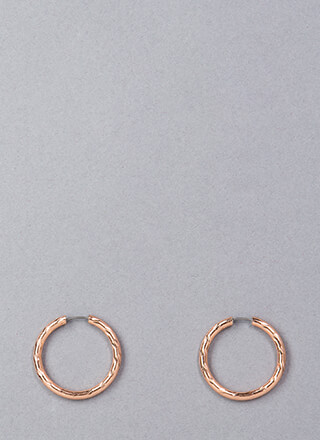 Always Round Up Hoop Earrings