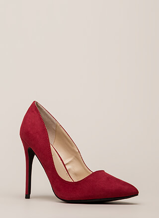Point Blank Range Faux Suede Pumps