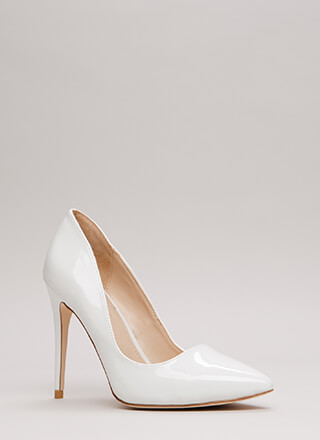 Point Blank Range Faux Patent Pumps