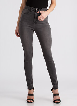 All Legs High-Waisted Skinny Jeans