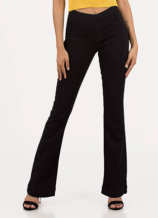 Seventies Silhouette Flare Leg Jeans